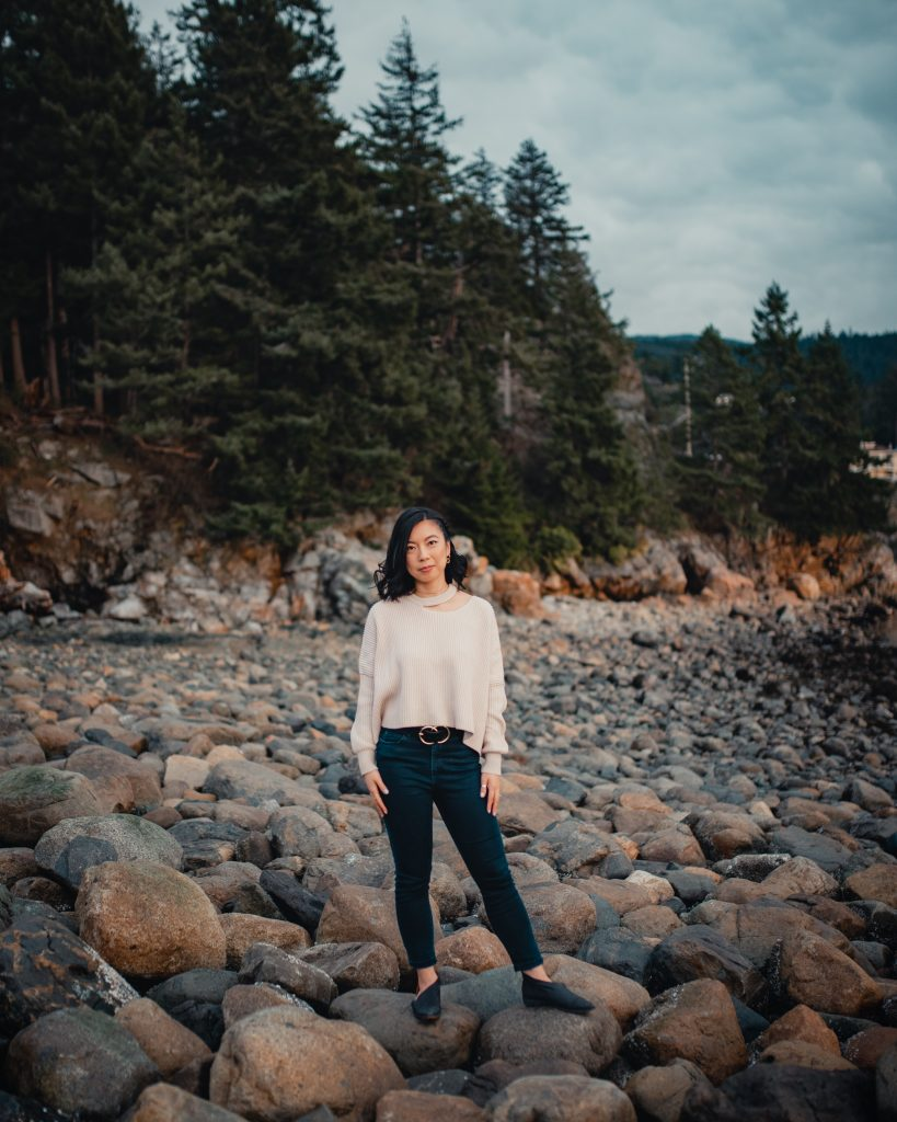 Female portrait photography in Vancouver, Canada. Whytecliff Park
