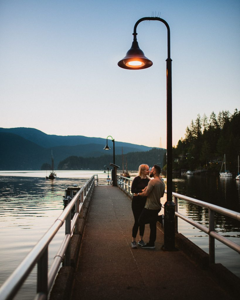 deep cove engagement photography