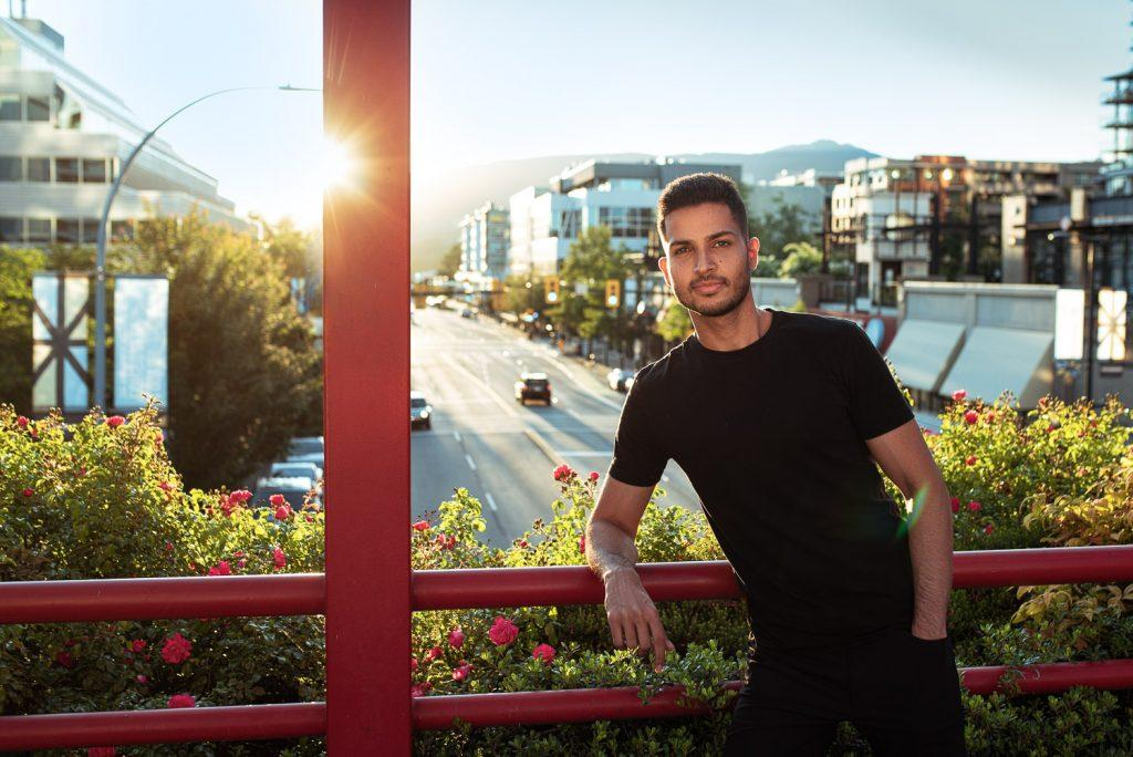 Male Photography Portrait in Lonsdale Quay
